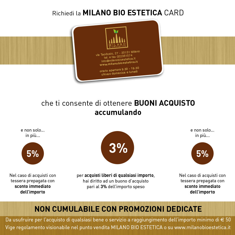 Milano bio estetica card sconti